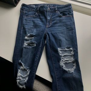 American Eagle Distressed Stretch Jeans